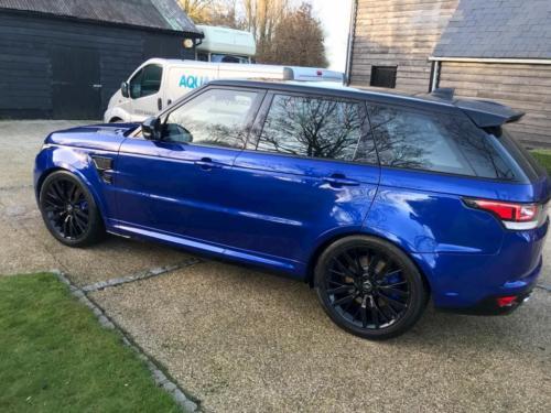 Blue Range Rover Clean